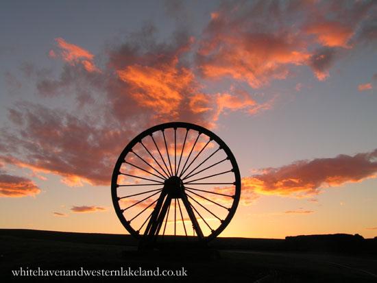 whitehaven gallery pit wheel sunset
