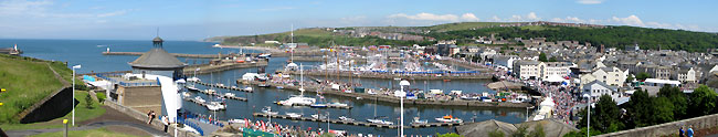 Whitehaven Panoramic view of Festival 2010